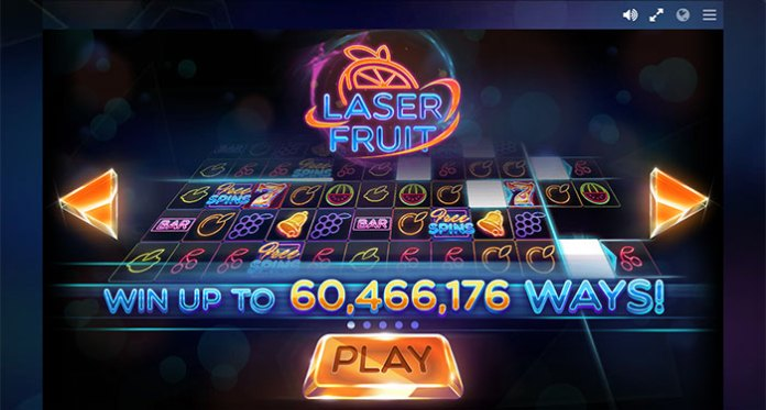 The New 243 Ways to Pay, Laser Fruit Slot from Red Tiger Gaming