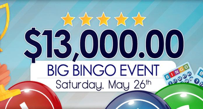 Play in the $13K Big Bingo Event at Downtown Bingo