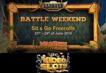 Battle Weekend at VideoSlots with Wild Heist at Peacock Manor Freeroll