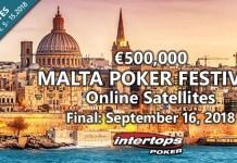 €500K Malta Poker Festival Satellite Tournament Schedule