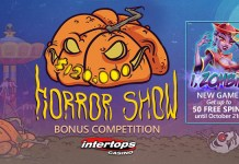Intertops I, Zombie Introductory Bonuses + the $120 Horror Show Contest