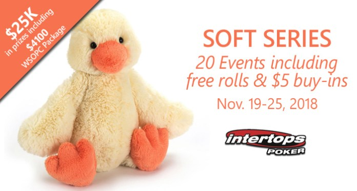 Intertops Poker Soft Series Kicks Off November 19 - 25th 2018