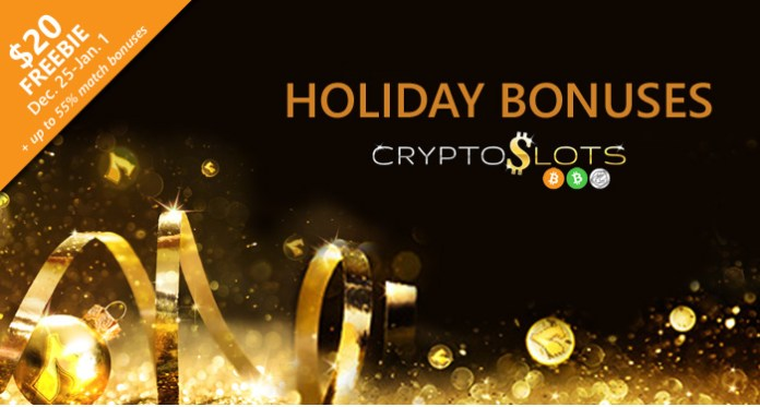 CryptoSlots Casino Gifts Players Extra Holiday Play Time