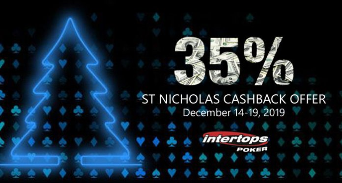 Intertops Poker 35% Cashback Offer on WorldMatch Slots