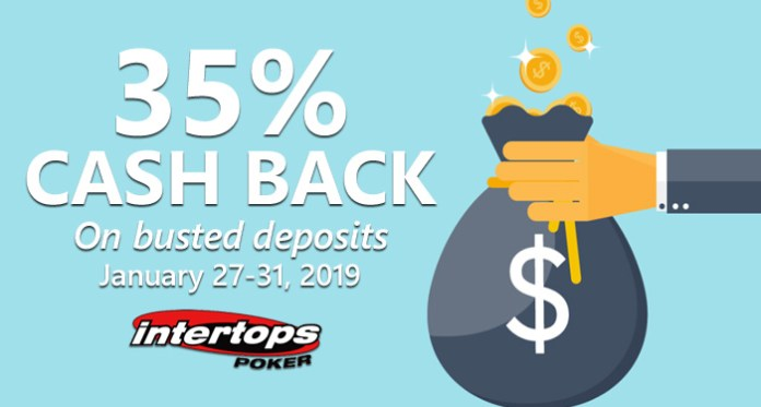 Intertops Poker Raises Instant Cashback to 35%