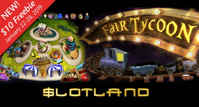 Play the New Fair Tycoon at Slotland Casino, $10 Freebie