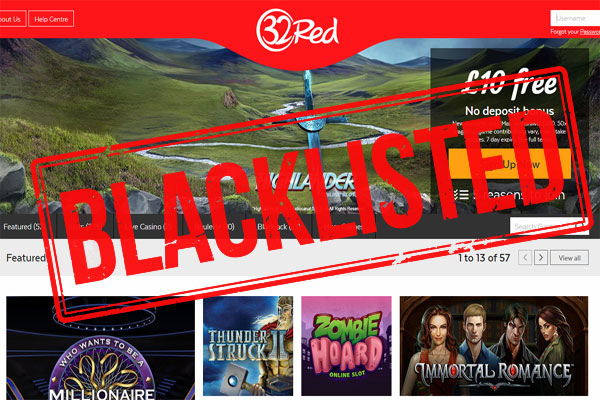 32Red Casino Blacklisted