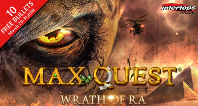 Get 10 Free Bullets to Play Max Quest: Wrath of Ra at Intertops