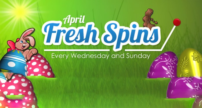 April Fresh Free Spins on Slots at Downtown Bingo