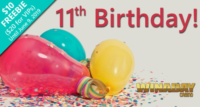 Celebrate WInday's 11th Birthday With Jackpots and New Slots