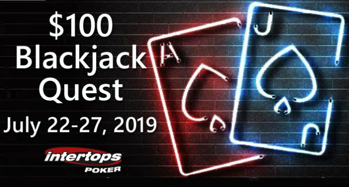 Intertops Poker Blackjack Quest Begins Again Awarding $100 Bonuses