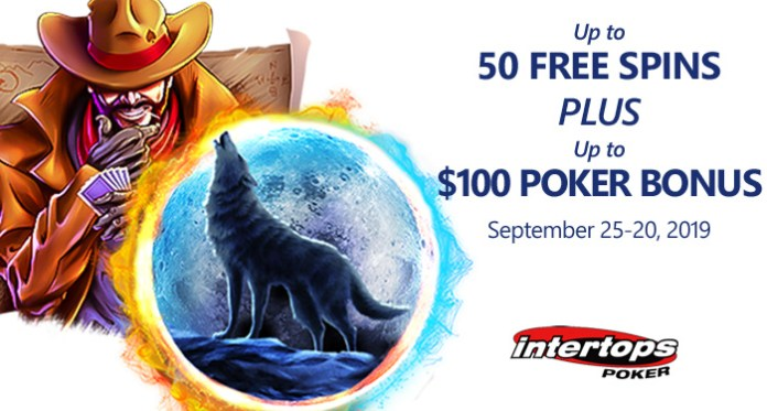 Intertops Poker Players Get Free Spins on Betsoft Slots this Weekend