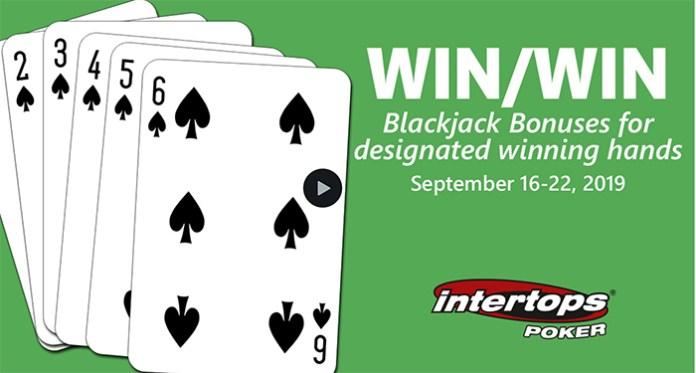 Join Intertops Poker This Week for Win, Win Blackjack Bonuses