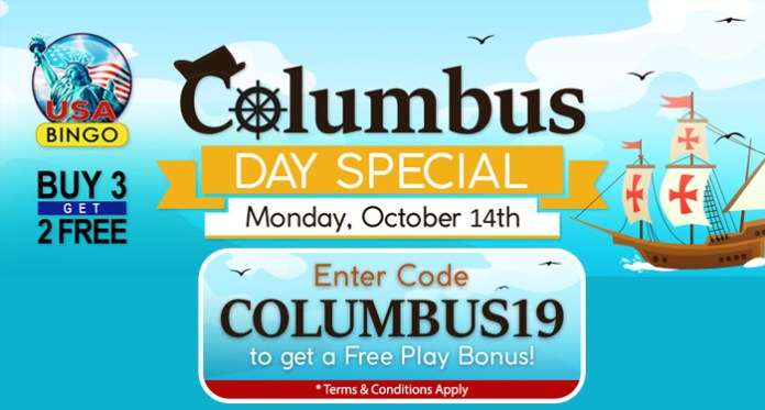 Search Out Columbus Day Treasures for Free at Downtown Bingo