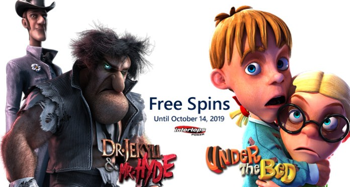 Halloween Free Spins at Intertops Poker on Select Betsoft Slots