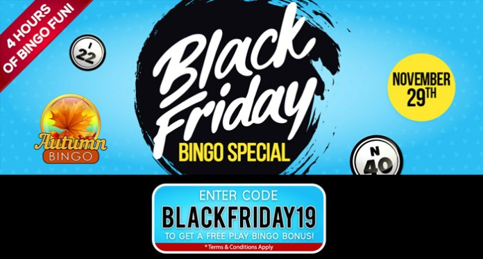 Black Friday Bingo Specials with Fabulous Cash Prizes