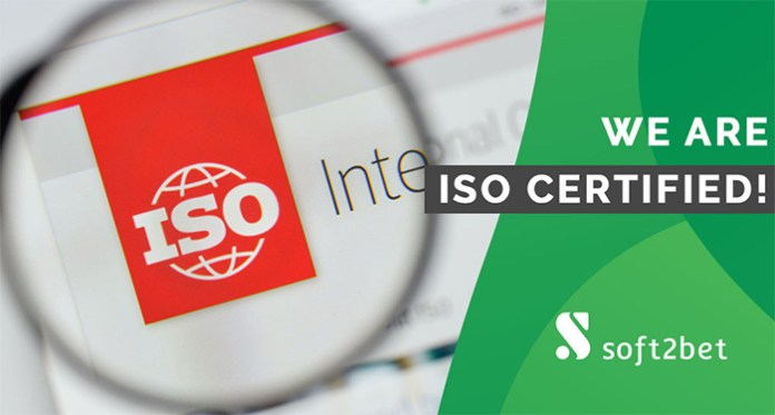 Soft2Bet Has Been Awarded its ISO Certification 27001