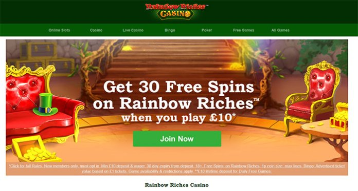 Scientific Games and Gamesys Group Launch Rainbow Riches Casino
