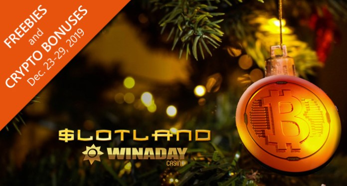 Christmas Gifts to Slotland and WinADay Casino Players