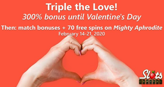 Slots Capital Players are Feeling the Love with $1500 Valentine's Bonuses