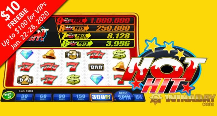 WinADay Casino Introduces Fiery New Hot Hit Slot