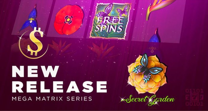 CryptoSlots Casino Announces New Mega Matrix Game: Secret Garden!