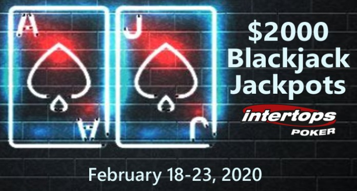 $2000 in Blackjack Bonuses Awarded During Intertops Blackjack Jackpots Week