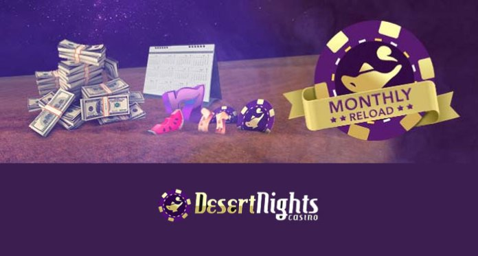 Boost Your Bankroll with Desert Nights Casino 177% Monthly Reload