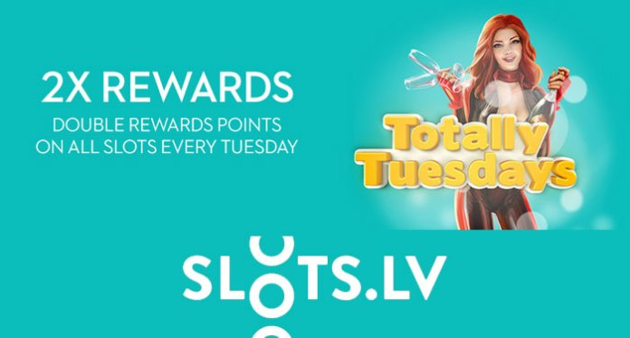 A Totally Winning Tuesday at Slots.lv, Get Unlimited Double Rewards Point