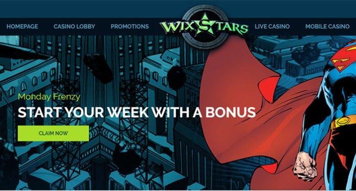 The Monday Frenzy Happening at Wixstars Casino Rewards You!