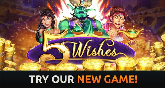 Play 5 Wishes at Intertops With 75% up to $600 + 30 Spins