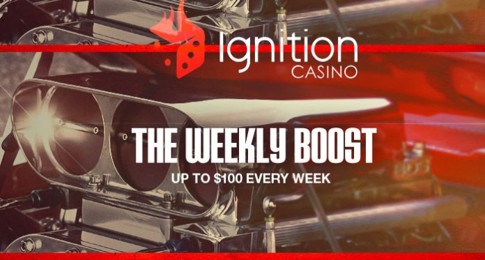 Earn Your Weekly Boost at Ignition Casino, Up to $100 Bonus