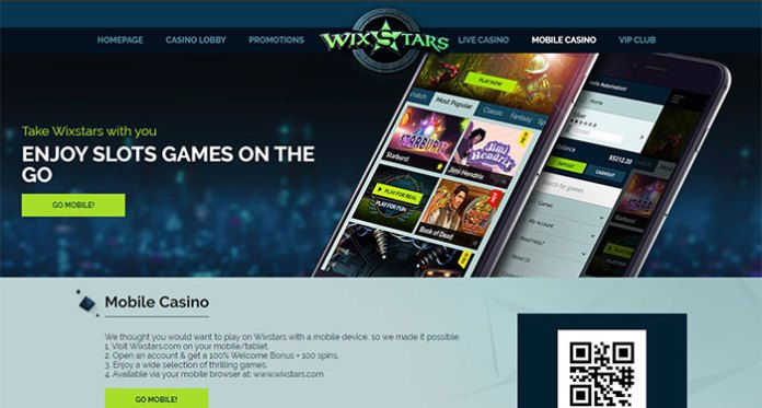 Take Wixstars With You & Play Mobile Slots with 100 Spins