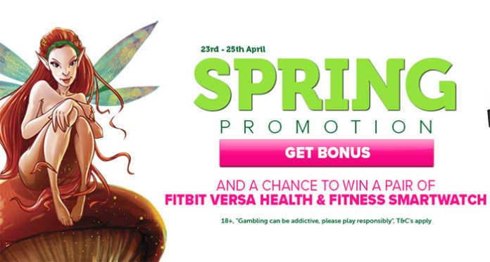 Play CasinoLuck's Spring Promotion + a Chance to Win a Fitbit