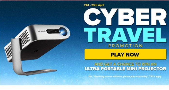 NextCasino's Cyber Travel Promo + Win an Ultra Portable Mini Projector