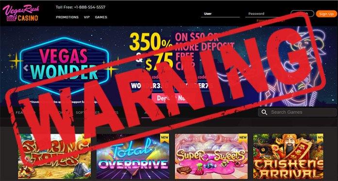 Avoid Vegas Rush Casino