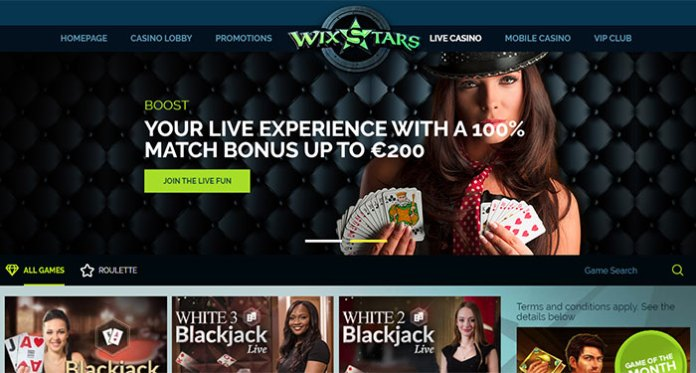 A Welcome 100% up to €200 and 100 Extra Spins at Wixstars Casino