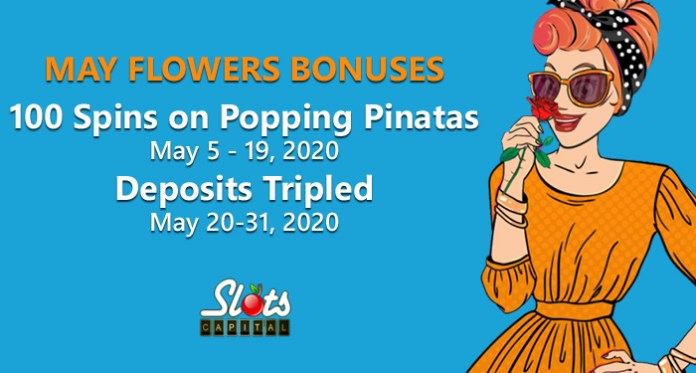 Slots Capital Casino Celebrates May Flowers with $1500 Bonuses + 100 Spins
