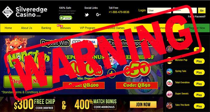 Silver Edge Casino Warning