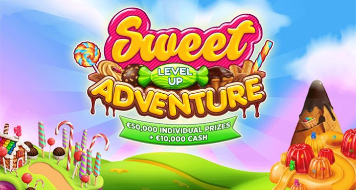 Win €10,000 Cash in Sweet Level Up Adventure at BitStarz!