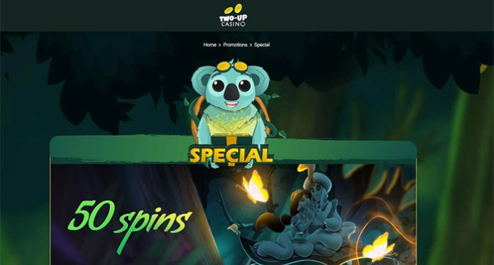 Spin 5 Wishes for 50 Free Spins at Two-Up Casino