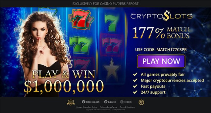 Spin for a Million When You Play this Months Jackpot Trigger at CryptoSlots
