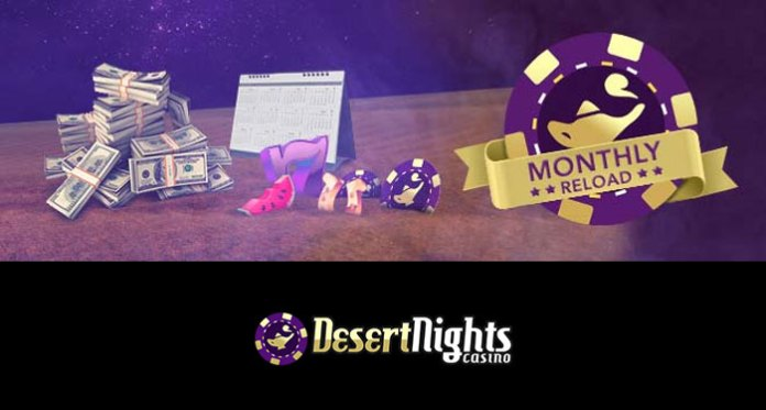 Claim the 177% Monthly Reload at Desert Nights Casino