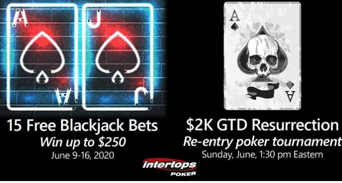 Intertops Poker Players Get 15 Free Blackjack Bets June 9-16