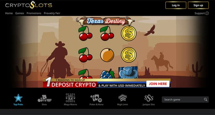 Spin Your Way to Win with Texas Destiny at CryptoSlots Casino