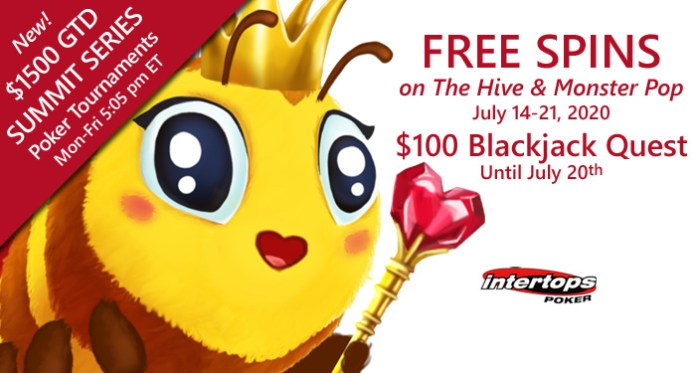 "Intertops Poker is Buzzing with Free Spins on New ""The Hive"""