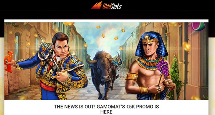 Gamomat's €5K Promotion is Live at Wildslots Casino