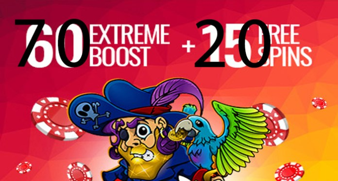 How About a 70 Extreme Boost Along with 20 Free Spins?