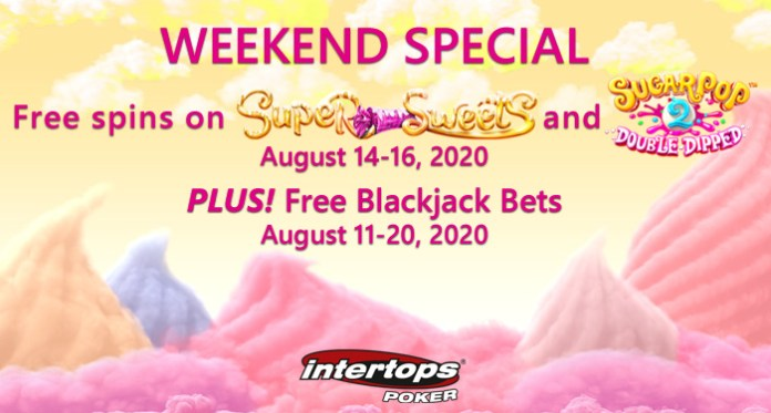 Weekend Special Plus Free Blackjack Bets in Casino Games Section at Intertops Poker