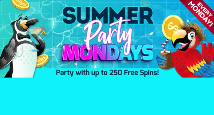Join the Summer Party Monday at Vegas Crest Casino
